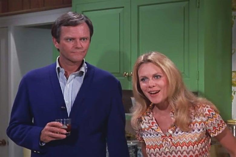 Dick Sargent and Elizabeth Montgomery.
