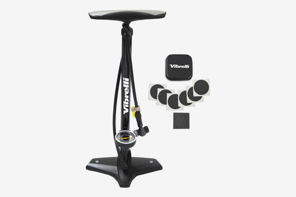 Performance Bike Floor Pump with Gauge & Glueless Puncture Kit