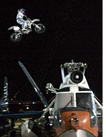 The other Knievel, in flight