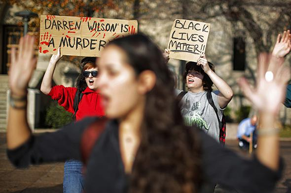 Protest of Darren Wilson ruling, Boston University