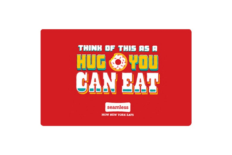 Seamless gift card