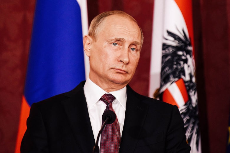 Russian President Vladimir Putin during a joint press conference on June 5 in Vienna, Austria.