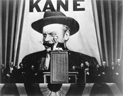 Orson Welles as Charles Foster Kane in Citizen Kane. Click image to expand.