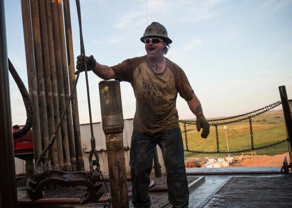Oil drilling, Bakken shale, North Dakota