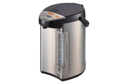 Zojirushi stainless steel water boiler.
