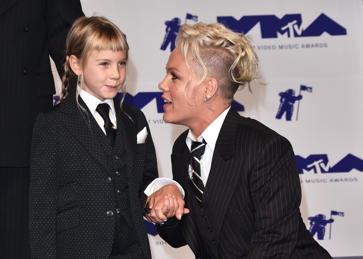 92c2d9c08e46 Pink s VMAs speech about her daughter and androgyny (VIDEO).