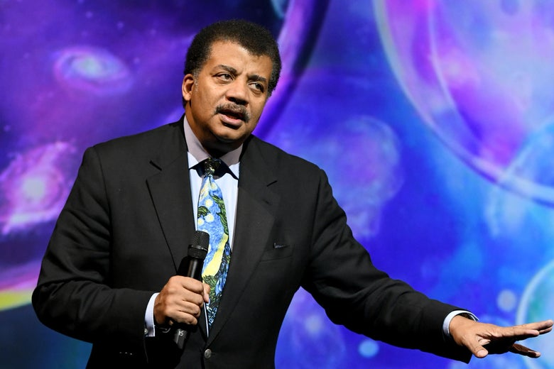 Astrophysicist Neil deGrasse Tyson speaks onstage during a conference on October 23, 2018 in New York City.