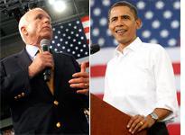 John McCain, Barack Obama. Click image to expand.