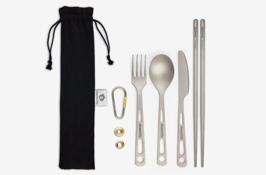 Titanium Utility Cutlery Set.