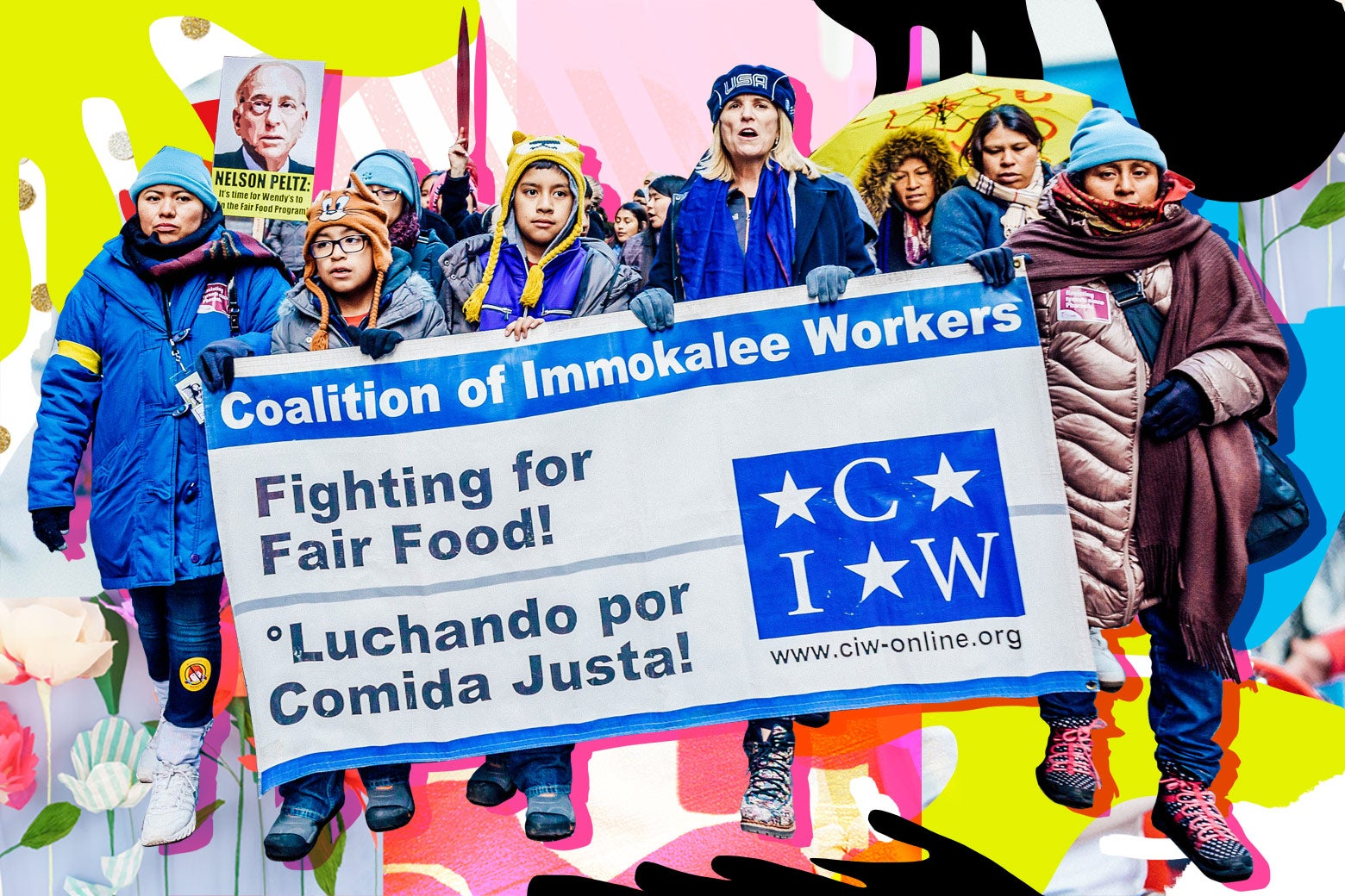 Workers from the Coalition of Immokalee Workers.