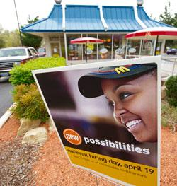 McDonalds expands hiring. Click image to expand.