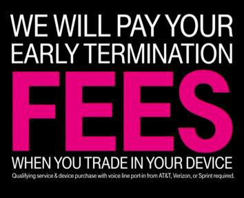 T-Mobile offer to pay ETFs