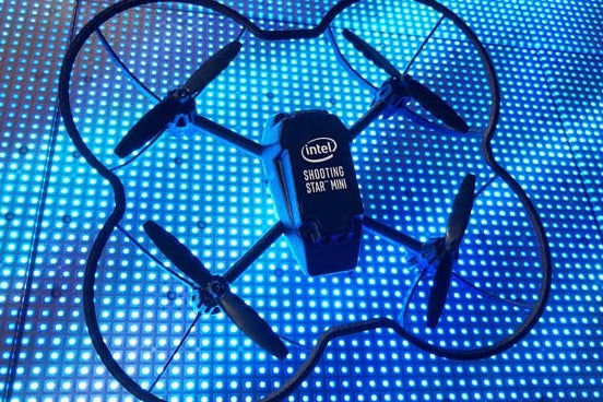 Intel showed off the Shooting Star Minis at CES.
