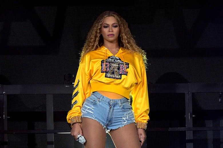 Beyonce onstage.