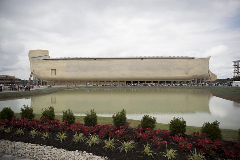 The Ark Encounter is seen July 5, 2016 in Williamstown, Kentucky.