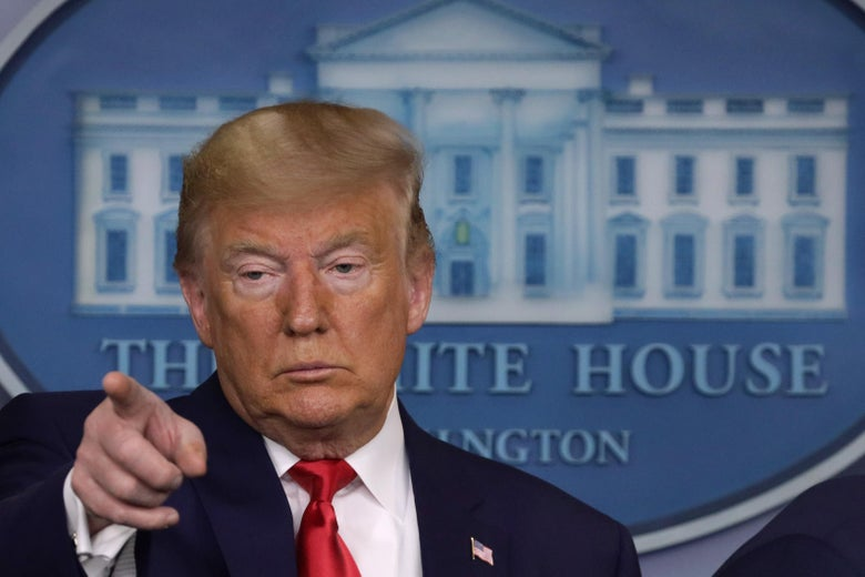 President Donald Trump takes questions during a news conference at the White House February 29, 2020 in Washington, D.C.