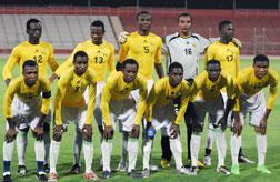 Football players claiming to represent Togo. Click image to expand.