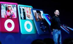 Apple CEO Steve Jobs talks about the iPod Nano during an Apple Special event September 5, 2007 in San Francisco