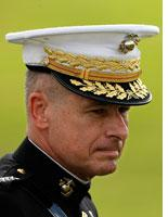 Outgoing Chairman of the Joint Chiefs of Staff Gen. Peter Pace         Click image to expand.