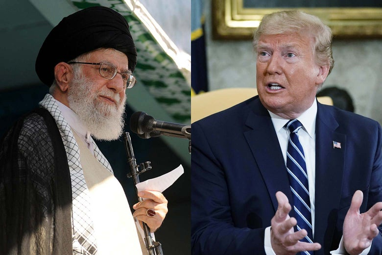 Ali Khamenei and Donald Trump.