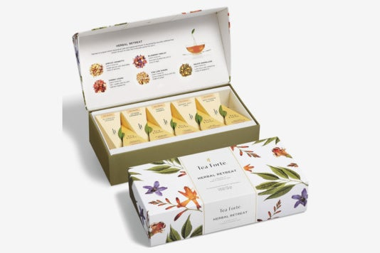 Tea Forté Herbal Retreat Petite Presentation Box Tea Sampler.