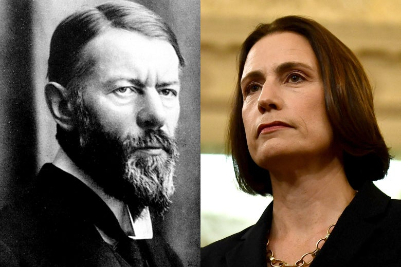 Max Weber and Fiona Hill.