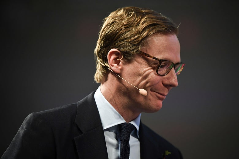 Cambridge Analytica's chief executive officer Alexander Nix gives an interview during the 2017 Web Summit in Lisbon on November 9, 2017.  Europe's largest tech event Web Summit is being held at Parque das Nacoes in Lisbon from November 6 to November 9.  / AFP PHOTO / PATRICIA DE MELO MOREIRA        (Photo credit should read PATRICIA DE MELO MOREIRA/AFP/Getty Images)