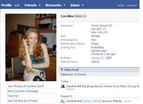 Caroline Giuliani's Facebook Profile. Click image to expand.
