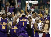 LSU celebrates its trip to the Final Four. Click image to expand.