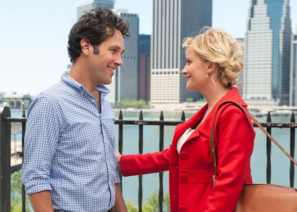 Amy Poehler and Paul Rudd in They Came Together (2014).