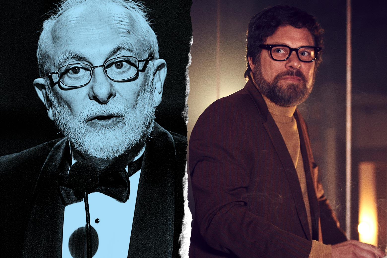 Photo illustration of Paddy Chayefsky and Norbert Leo Butz as Paddy Chayefsky.