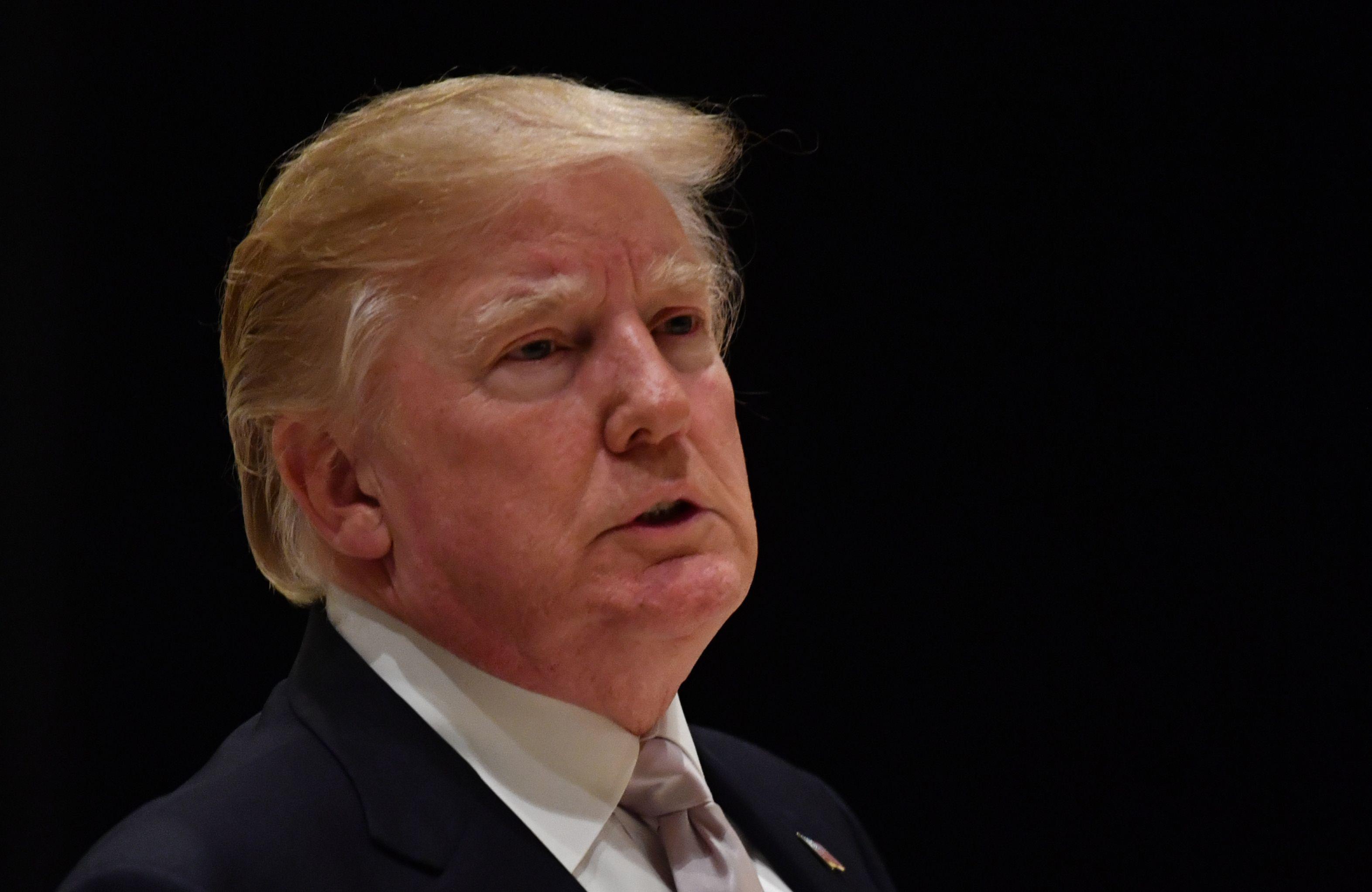 Headshot of Donald Trump.