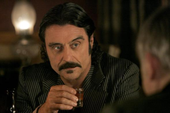 Ian McShane stars as Al Swearengen in Deadwood.