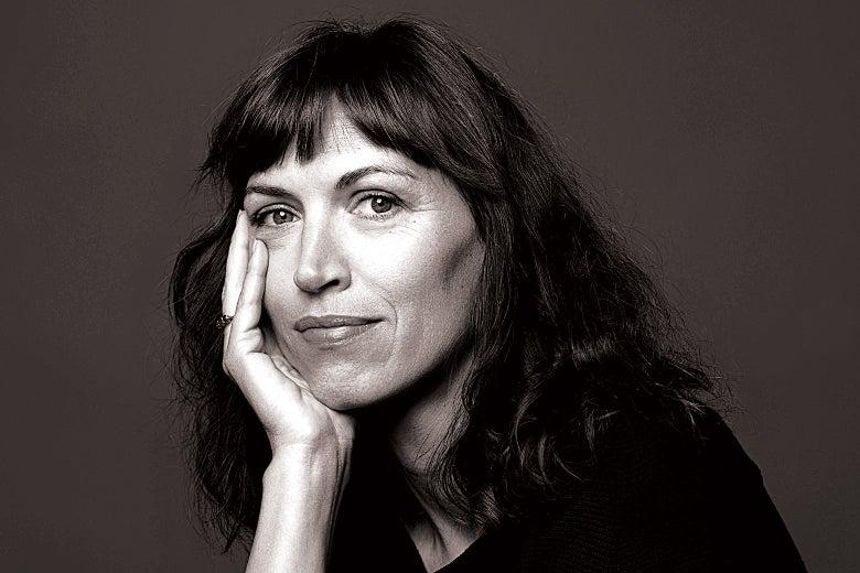Vanessa Springora with her chin resting on her hand