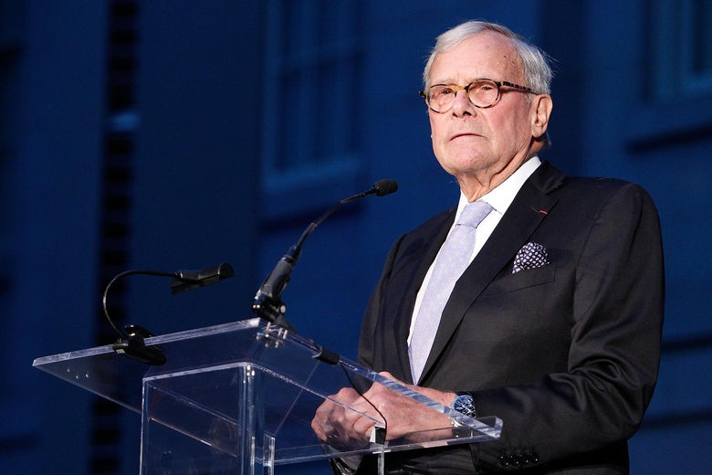 """Tom Brokaw, NBC Moderator and Author Speaking to American Visionary: John F. Kennedy's Life and Times Debut Gala at the Smithsonian American Art Museum on May 2, 2017 in Washington, DC """"srcset ="""" https://compote.slate.com/images/04ce1de8- 920d- 4817-8f66-60f669bc3b75.jpeg? Width = 780 & height = 520 & rect = 3000x2000 & offset = 0x66 1x, https://compote.slate.com/images/04ce1de8-920d-4817-8f66-60f669bc3b75.jpeg?width=780 & height = 520 & rect = 3000x2000 & offset = 0x66 2x"""