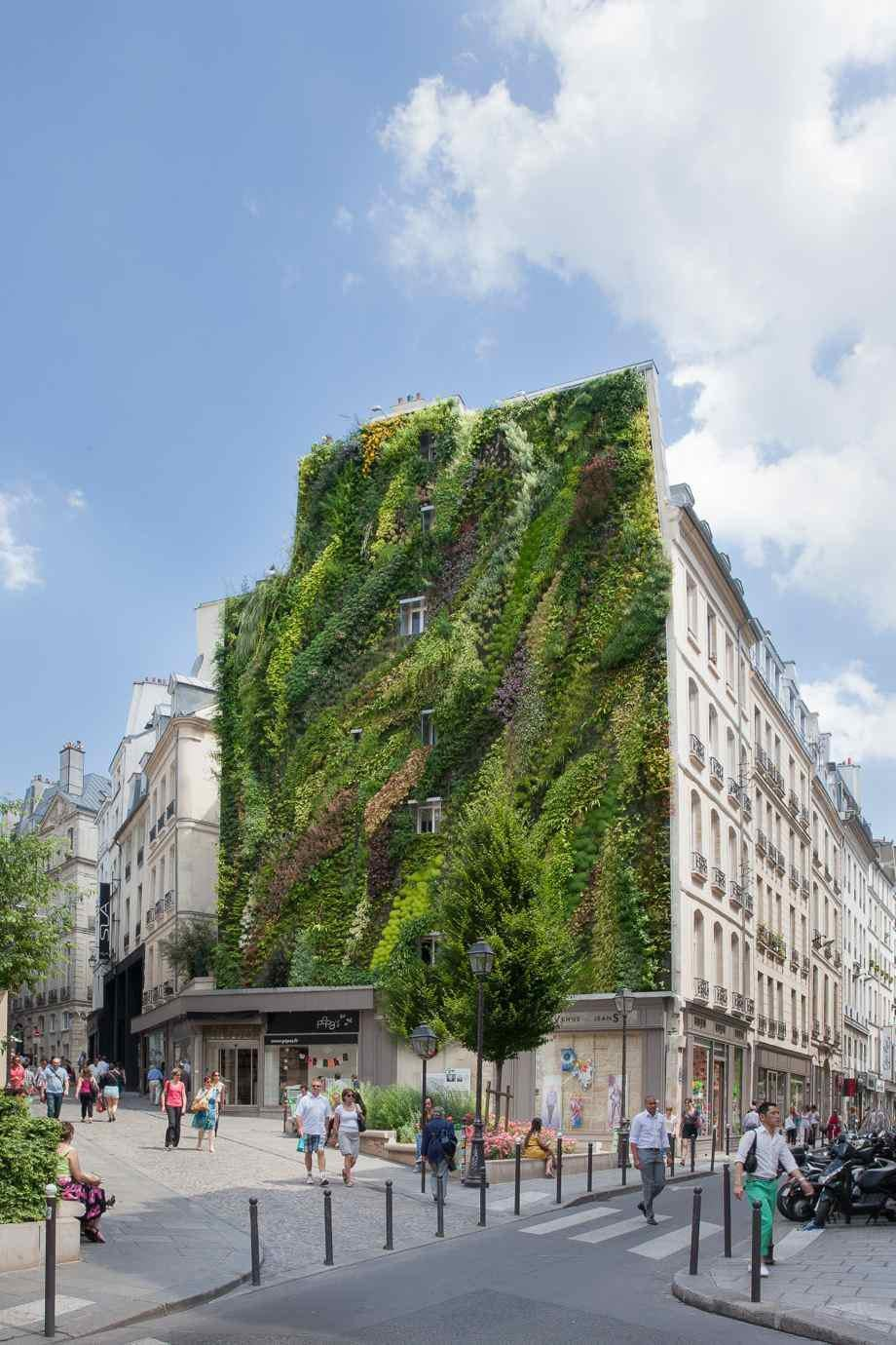 Patrick Blancu0027s Newest Vertical Garden: Greening Urban Walls ...