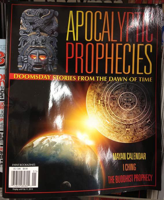 """Cover of """"Apocalyptic Prophecies"""" magazine"""