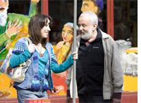 Sally Hawkins and Mike Leigh in Happy-Go-Lucky. Click image to expand.