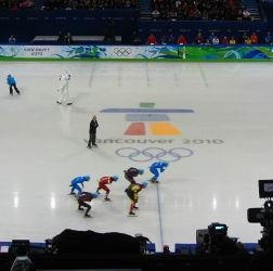 Men's short-track speed skating. Click image to expand.