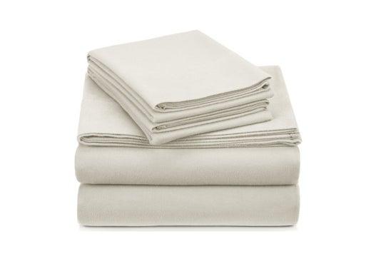 White Pinzon velvet flannel sheet set.