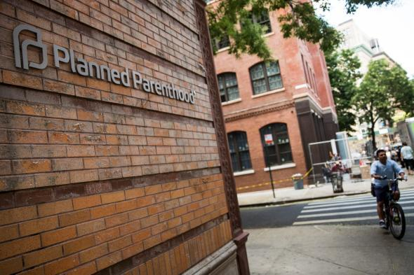 A Planned Parenthood is seen on Aug. 5, 2015, in New York City.