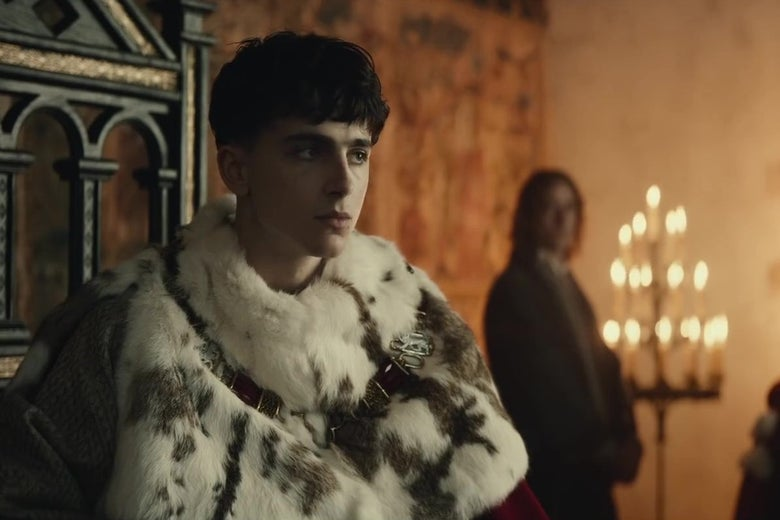 Timothée Chalamet is Hal to Joel Edgerton's Falstaff in the First Trailer for The King