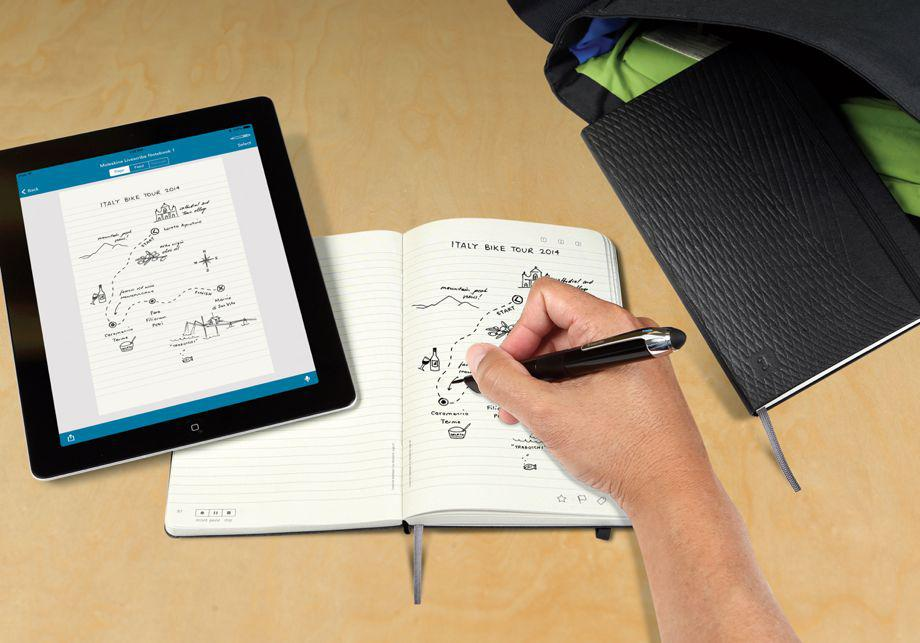 Livescribe Notebooks by Moleskine marry analog and digital technology for nostalgic note takers.