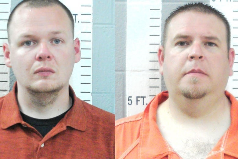 Joshua Taylor (left) and Brandon Dingman, are seen in their booking photos on July 2, 2020.