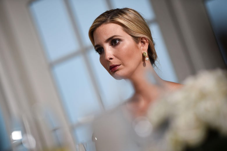 Ivanka Trump, looking sad.