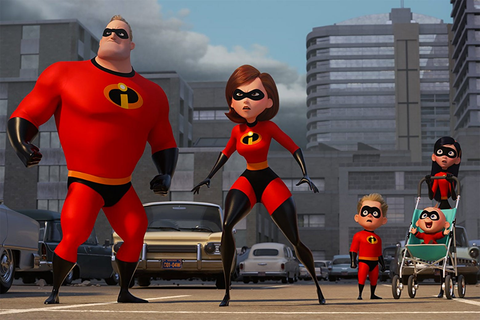 The Incredibles family in a still from Incredibles 2.