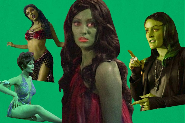 Janet Kidder as Osyraa, Yvonne Craig as Marta, Orion Slave Girls, and Star Trek Continues Lolani, a victim of the Orion slave trade.