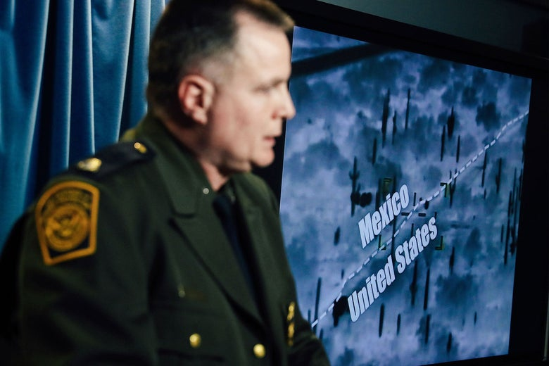 Brian Hastings, CBP chief of law enforcement operations, speaks to the press in Washington on March 5.