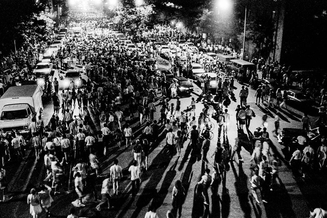 Crowds Dispersing After Fireworks Display