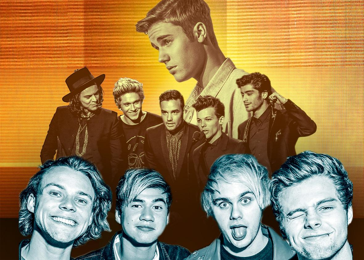 Justin Bieber, One Direction 5 Seconds of Summer.